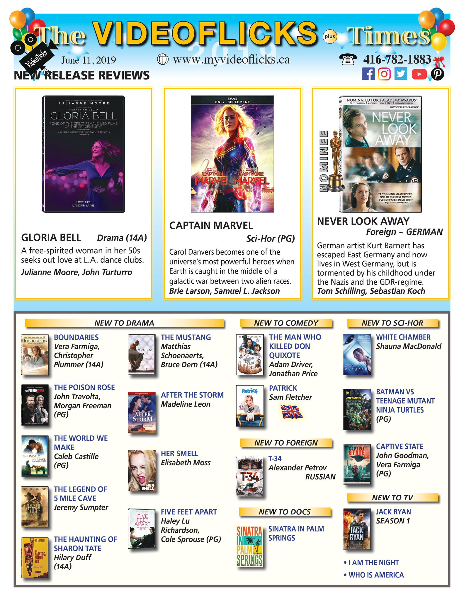 june 11 2019 newsletter dvd bluray rentals toronto