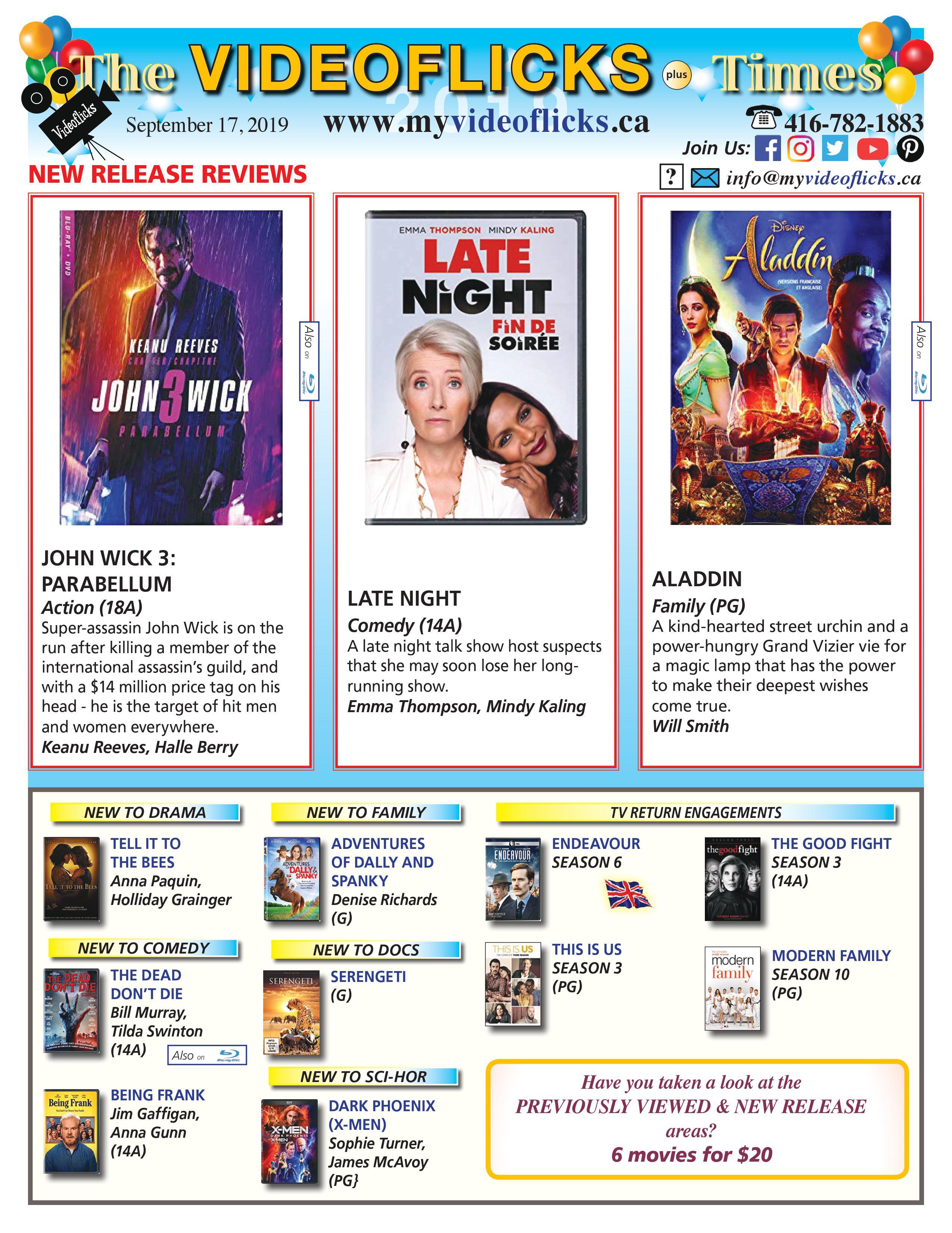 newsletter september 17 2019-1-dvd-rental-video-store-toronto